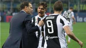 Allegri Dybala Higuain Inter Juventus Serie A 29042018