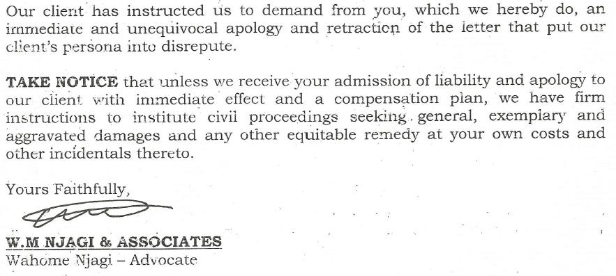 Nyamweya demand letter 2