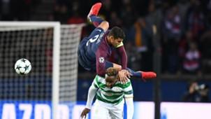 Thiago Silva Moussa Dembele PSG Celtic Champions League 22112017