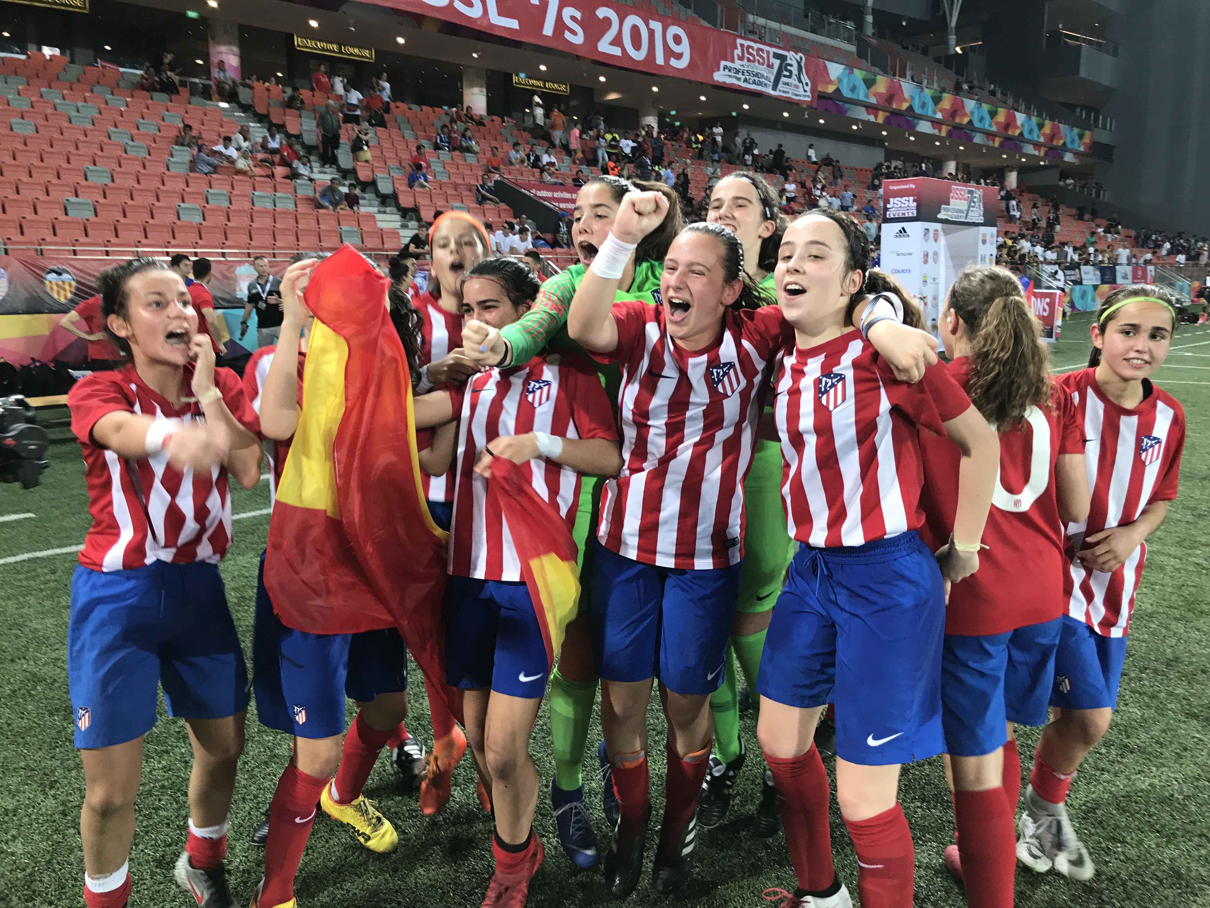 Atletico Madrid girls JSSL Singapore