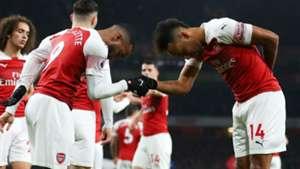 Alexandre Lacazette Pierre-Emerick Aubameyang Arsenal 2018-19