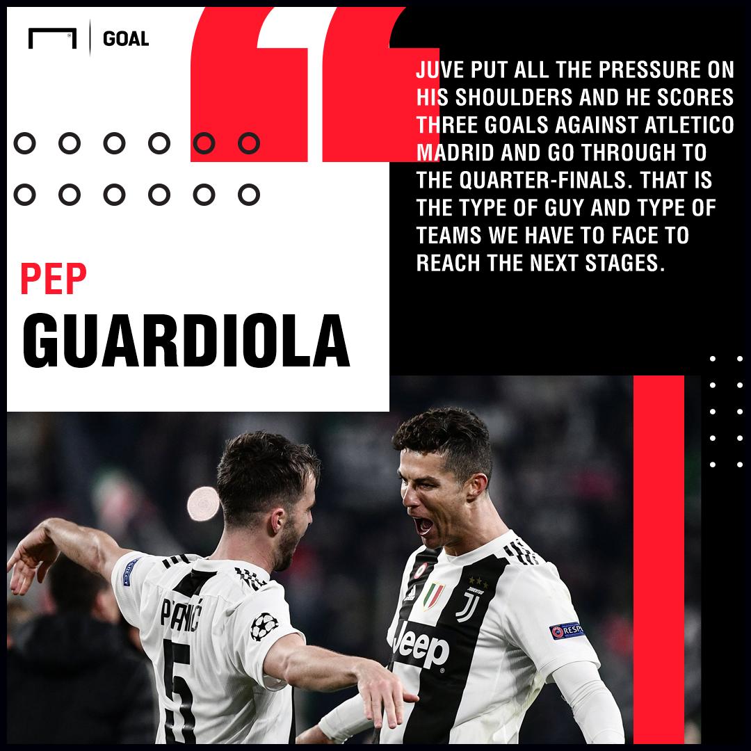 Pep Guardiola Cristiano Ronaldo Juventus PS