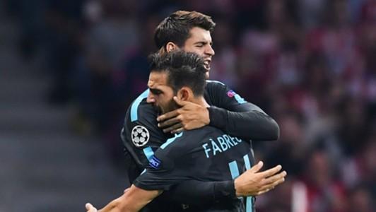 Cesc Fabregas Alvaro Morata Chelsea 2017-18