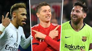 Neymar Robert Lewandowski Lionel Messi