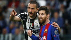 Bonucci Messi Barcelona Juventus