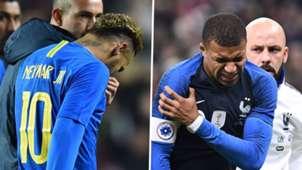 Neymar Mbappe PSG injuries