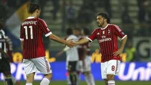 Zlatan Ibrahimovic Gennaro Gattuso Milan Serie A 03172012
