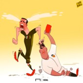 CARTOON Ronaldo's tears