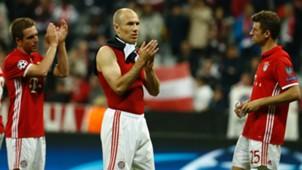 PHILIPP LAHM ARJEN ROBBEN THOMAS MÜLLER UEFA CHAMPIONS LEAGUE 12042017