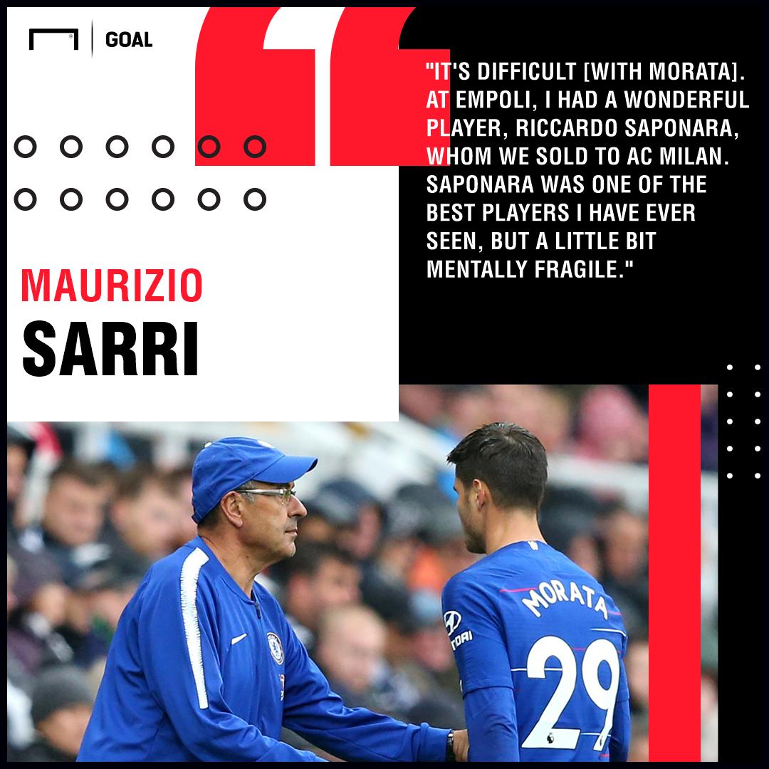 Alvaro Morata Maurizio Sarri Chelsea PS