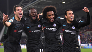 Chelsea vs Huddersfield Willian, Pedro, Moses, Azpilicueta