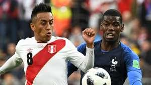 Christian Cueva Paul Pogba Peru France World Cup