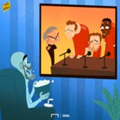 CARTOON Pep watches Mou's presser