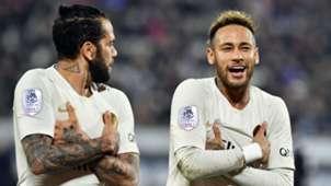 Dani Alves Neymar Bordeaux PSG Ligue 1 02122018