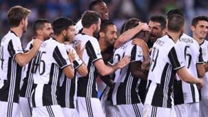 Juventus celebrating Coppa Italia
