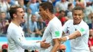 Antoine Griezmann Raphael Varane Kylian Mbappe France 2018 World Cup