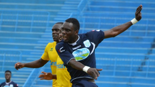 Thika United striker Joel Tata in action