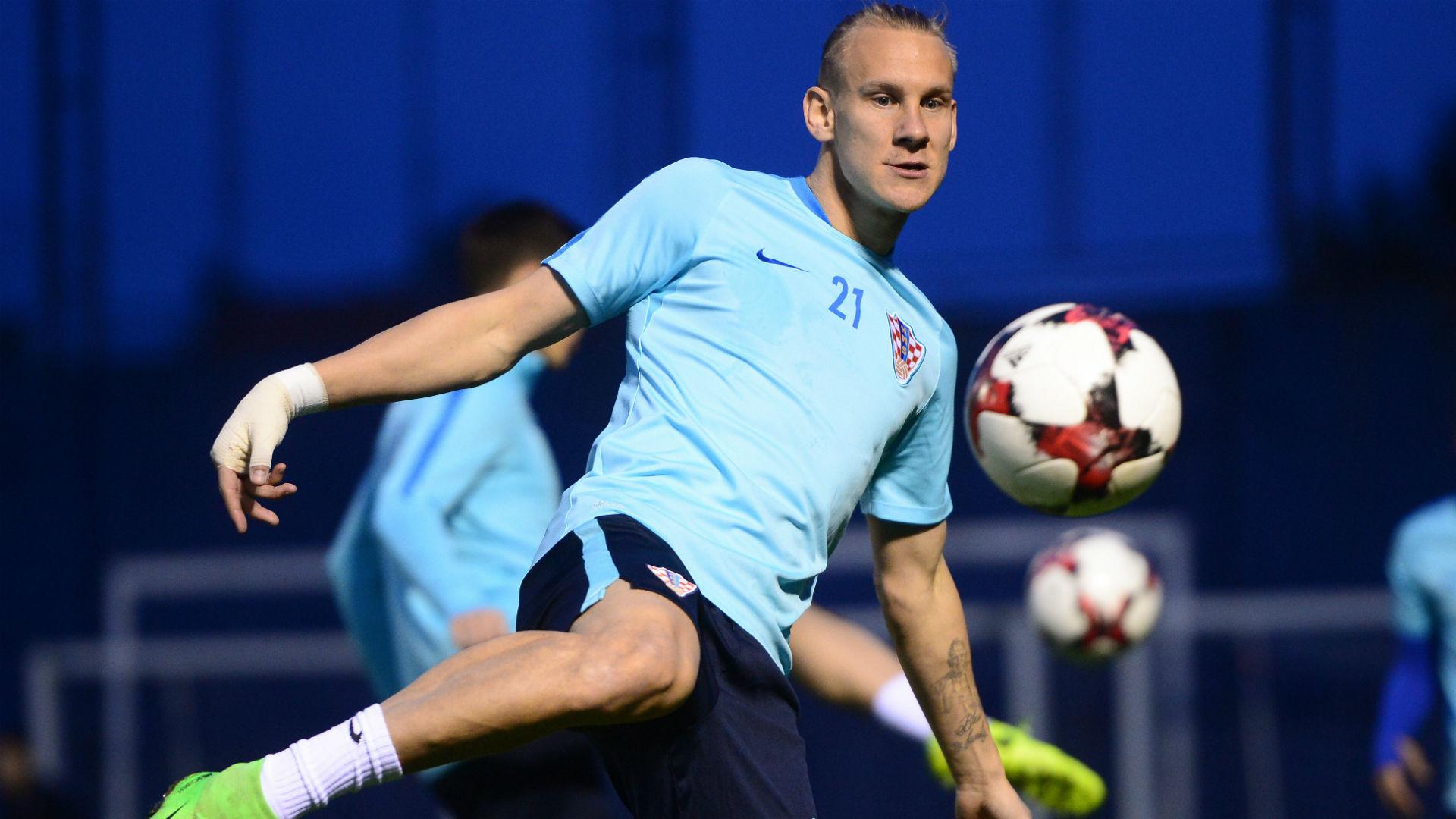 Domagoj Vida Croatia training