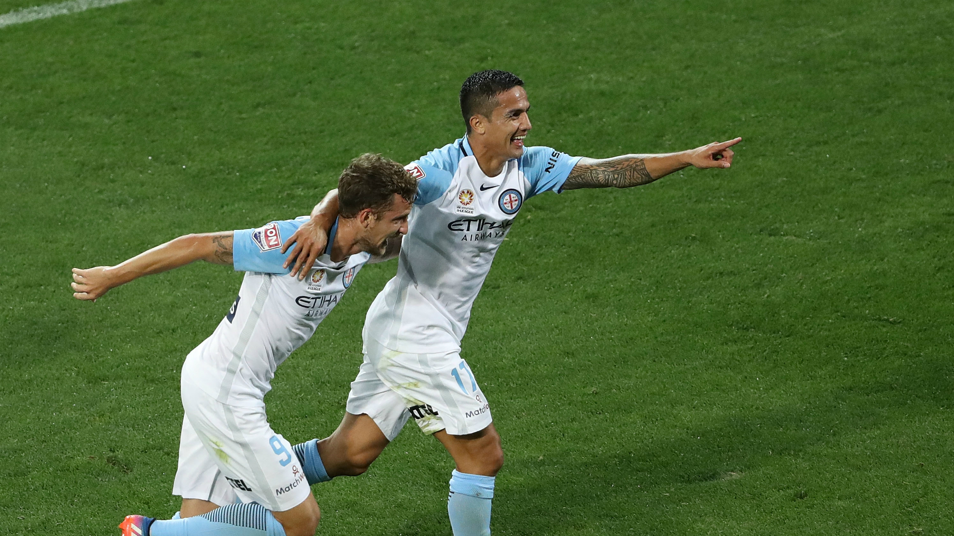 Tim Cahill Melbourne City v Adelaide United A-League 07042017