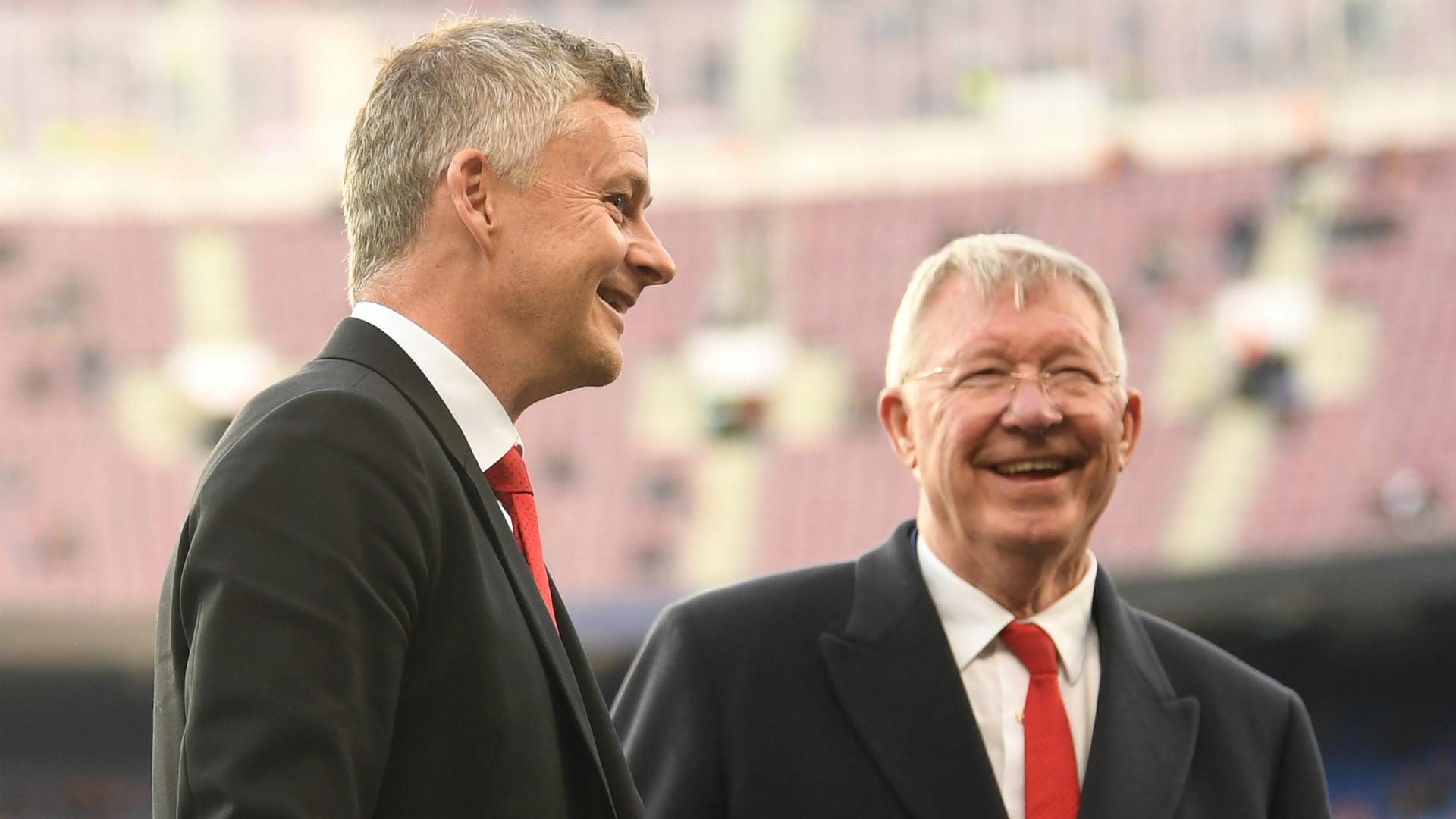 Sir Alex Ferguson Ole Gunnar Solskjaer Manchester United