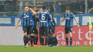 Atalanta celebrating Udinese