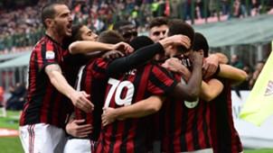 Milan Chievo celebrating