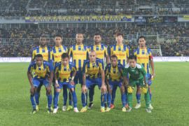 Pahang's first eleven against T-Team 27/1/2017