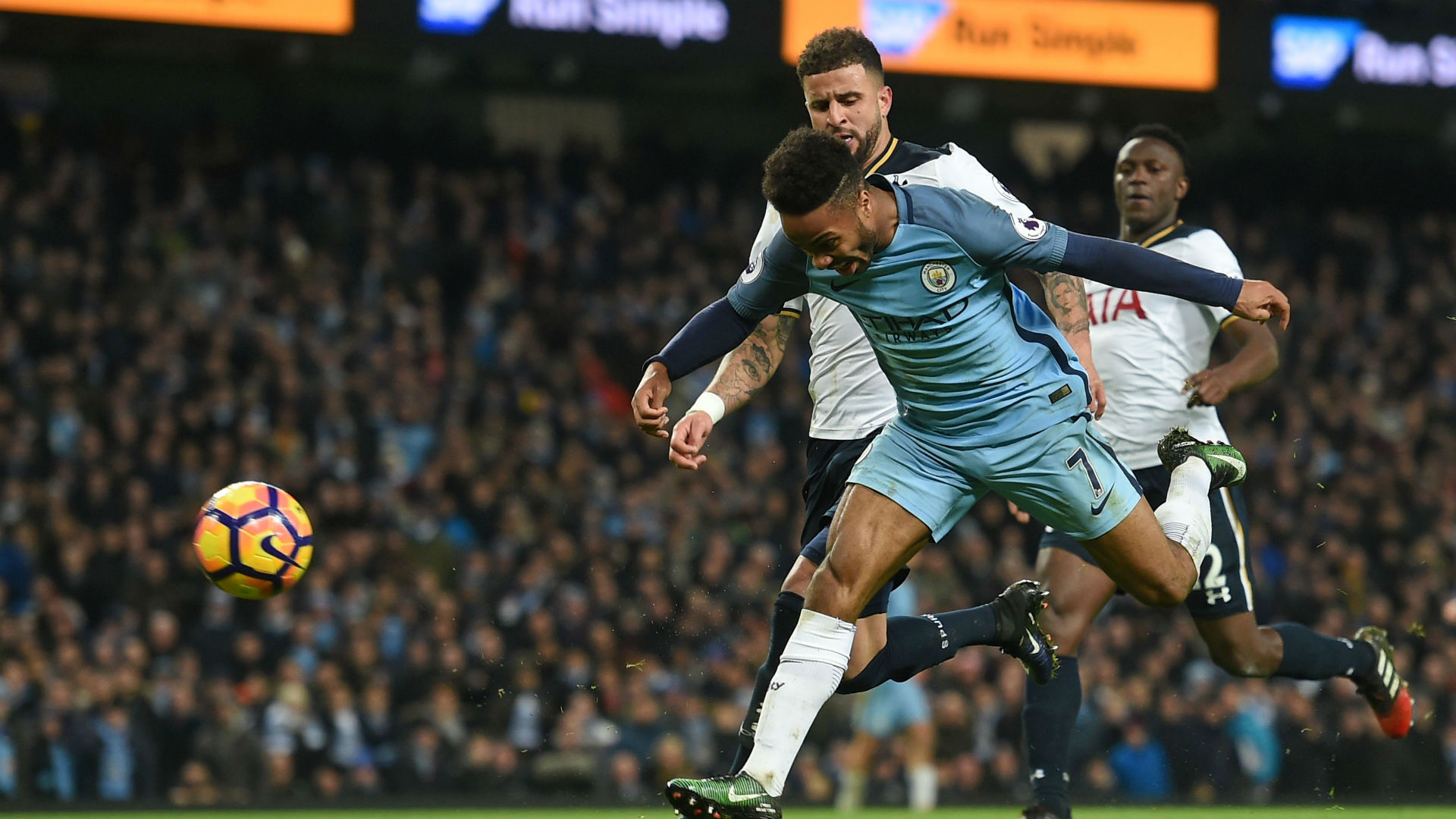 Kyle Walker & Raheem Sterling Premier League Man City v Tottenham