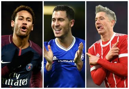 Neymar PSG Hazard Chelsea Lewandowski Bayern de Munique Real Madrid