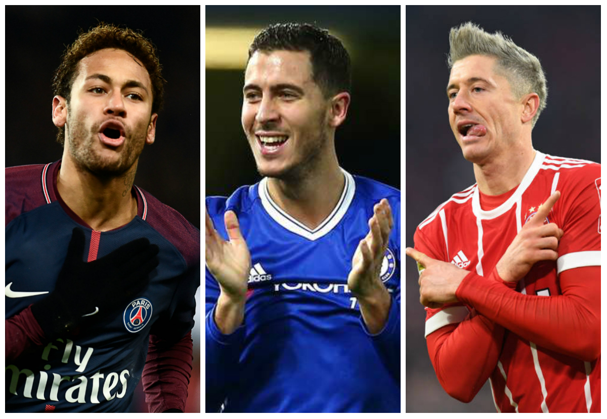 Neymar PSG Hazard Chelsea Lewandowski Bayern de Munique Real Madrid