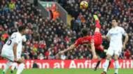 Liverpool Swansea Adam Lallana