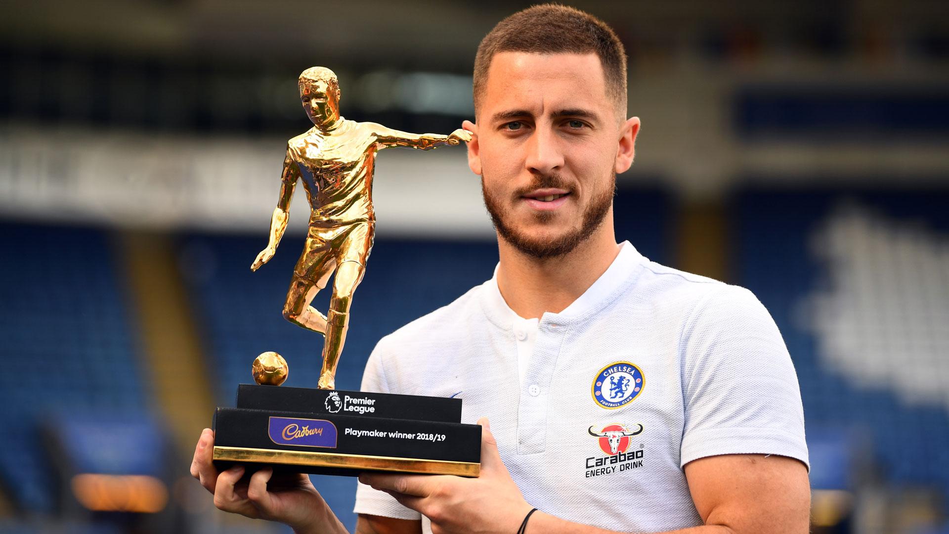 eden hazard 2019 2018/2019 playmaker of the year carabao chelsea fc mai