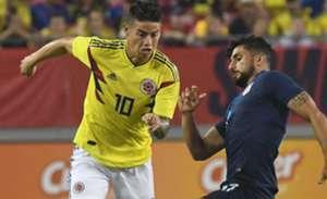 James Rodríguez Colombia vs Estados Unidos 2018