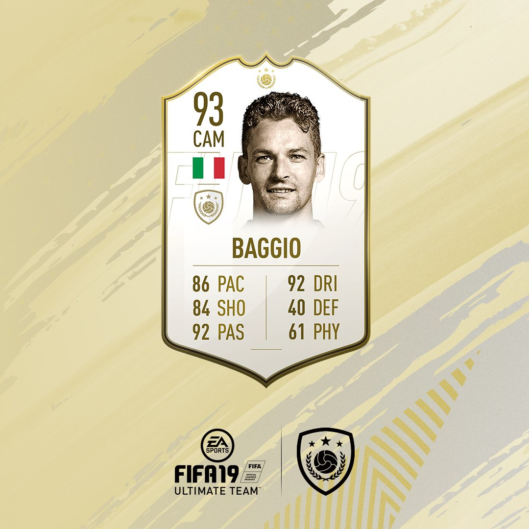 Embed only Roberto Baggio FIFA 19 Icon