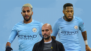Riyad Mahrez Fred Pep Guardiola Man City GFX