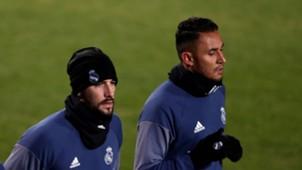 Kiko Casilla Keylor Navas Real Madrid training