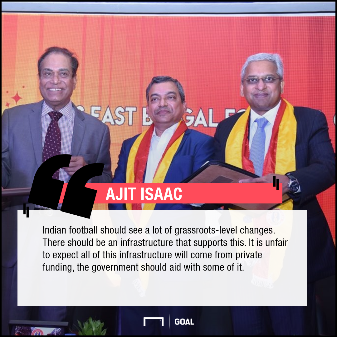 Ajit Isaac quotes PS Quess East Bengal