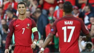 Nani Cristiano Ronaldo Portugal Austria Euro 2016 06182016