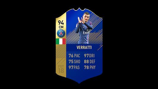 FIFA 18 Ligue 1 Team of the Season Verratti