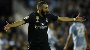 Karim Benzema Celta Vigo vs Real Madrid La Liga 2018-19