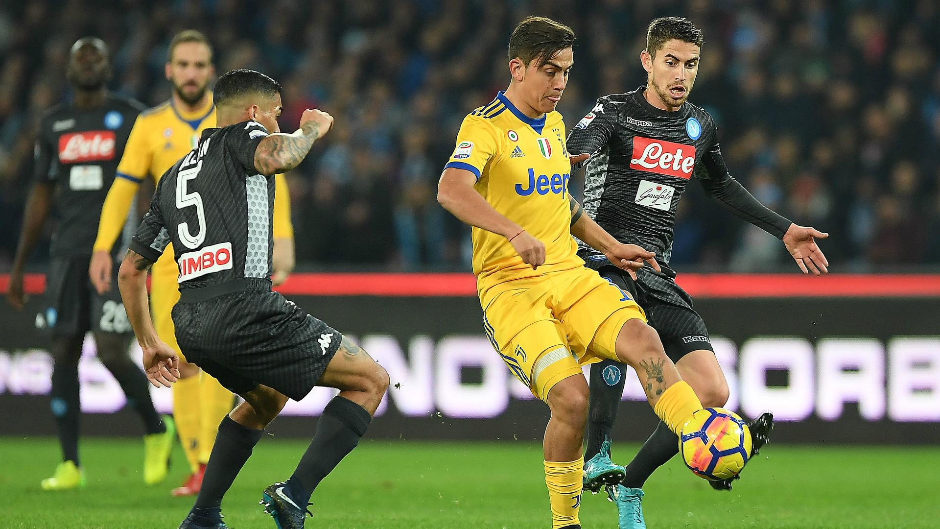 Paulo Dybala Jorginho Napoli Juventus Serie A
