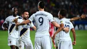 Zlatan Ibrahimovic Giovani dos Santos LA Galaxy MLS 2018