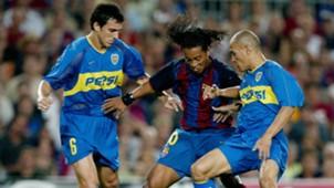 Ronaldinho Nicolas Burdisso Clemente Rodriguez Barcelona Boca Juniors Trofeo Joan Gamper 2003