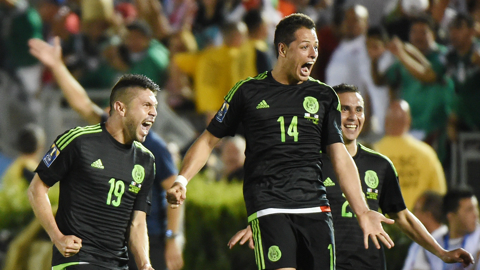 Javier Hernandez Oribe Peralta Paul Aguilar Mexico CONCACAF Cup