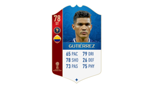 FIFA 18 World Cup CONMEBOL Ratings Gutierrez