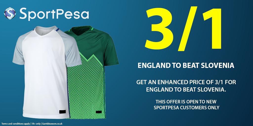 England Slovenia sportpesa graphic