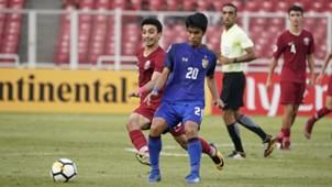 U19 Thái Lan U19 Qatar Tứ kết Giải U19 châu Á 2018