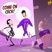 Bernd Leno Petr Cech Emery Arsenal cartoon of the day