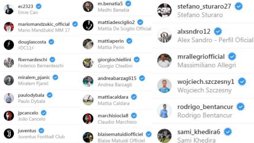 رونالدو يتابع لاعبي يوفنتوس عبر إنستجرام