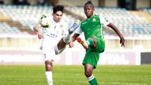 Gor Mahia midfielder Francis Kahata v Hussein Dey.
